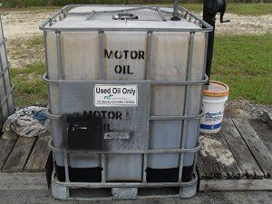 Motor Oil Container
