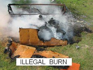 Illegal Burning of Furniture