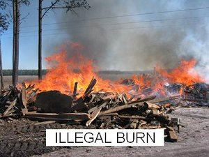 Illegal Burning of Scrap Wood